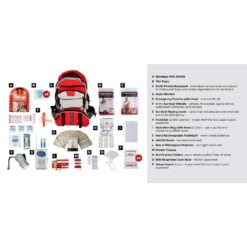 Survival Kit 1 Person Red Description