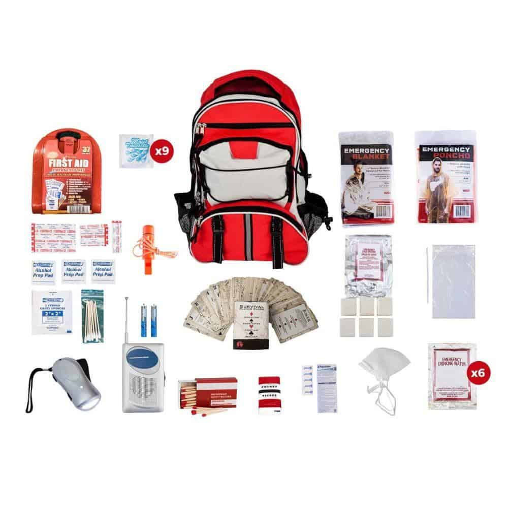 Survival Kit 1 Person Red