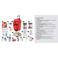 Survival Kit 1 Person Red Wheelbag Description