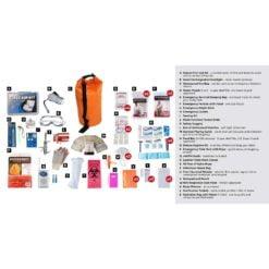 Elite Survival Kit 2 Person Orange Dry Bag Description
