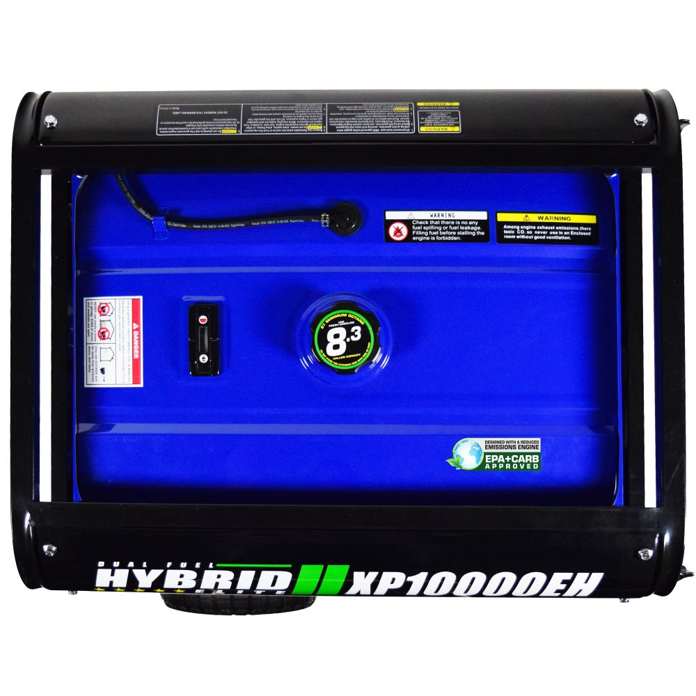 DuroMax XP10000EH 10000-Watt Electric Start Dual Fuel Hybrid Portable  Generator - Armory Survival