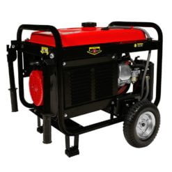 DuroStar DS4850EH 4,850-Watt 7-Hp Dual Fuel Hybrid Generator w/ Electric Start and Wheel Kit