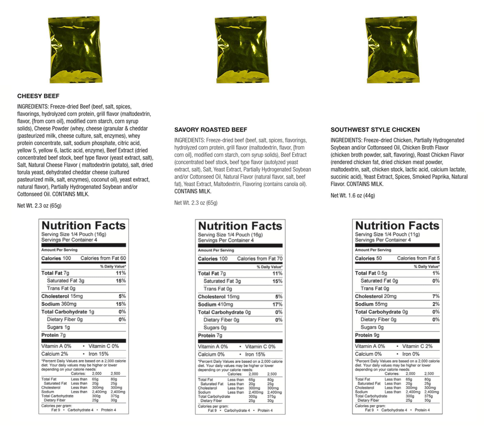 60 Serving Meat Nutrition