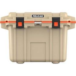 70Q-2-TANORG_Pelican Cooler Im 70 Quart – Elite Tan-orange