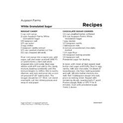 White Granulated Sugar 4-Gallon Pail