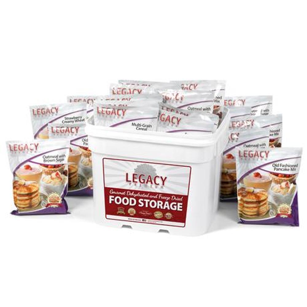 120 Serving Breakfast Bucket - 36 lbs
