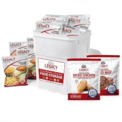 158 Serving Freeze Dried Chicken, Beef and Entree Combo Bucket