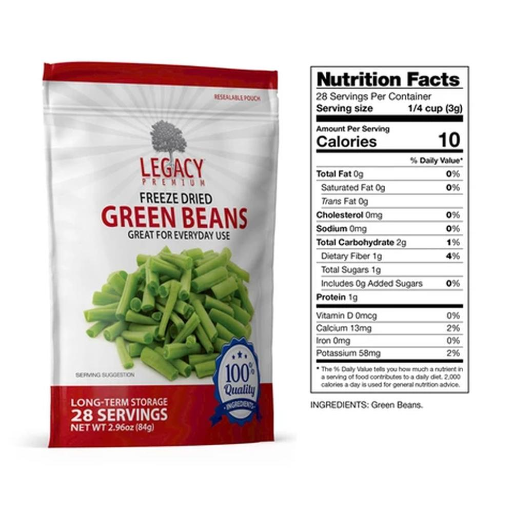 Freeze Dried Green Beans Armory Survival